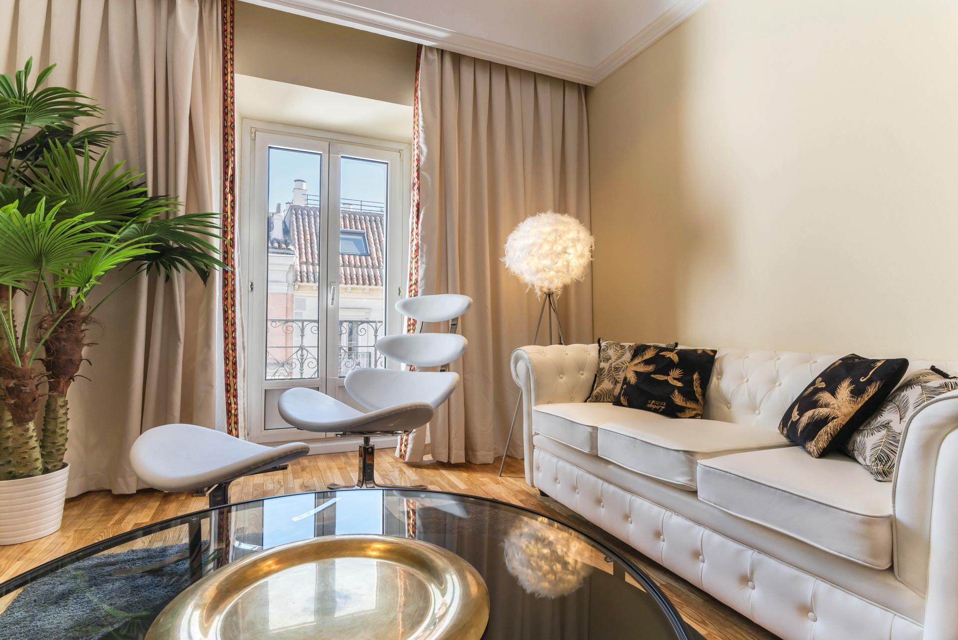 Stylish living area at Ayala Apartments, Salamanca, Madrid