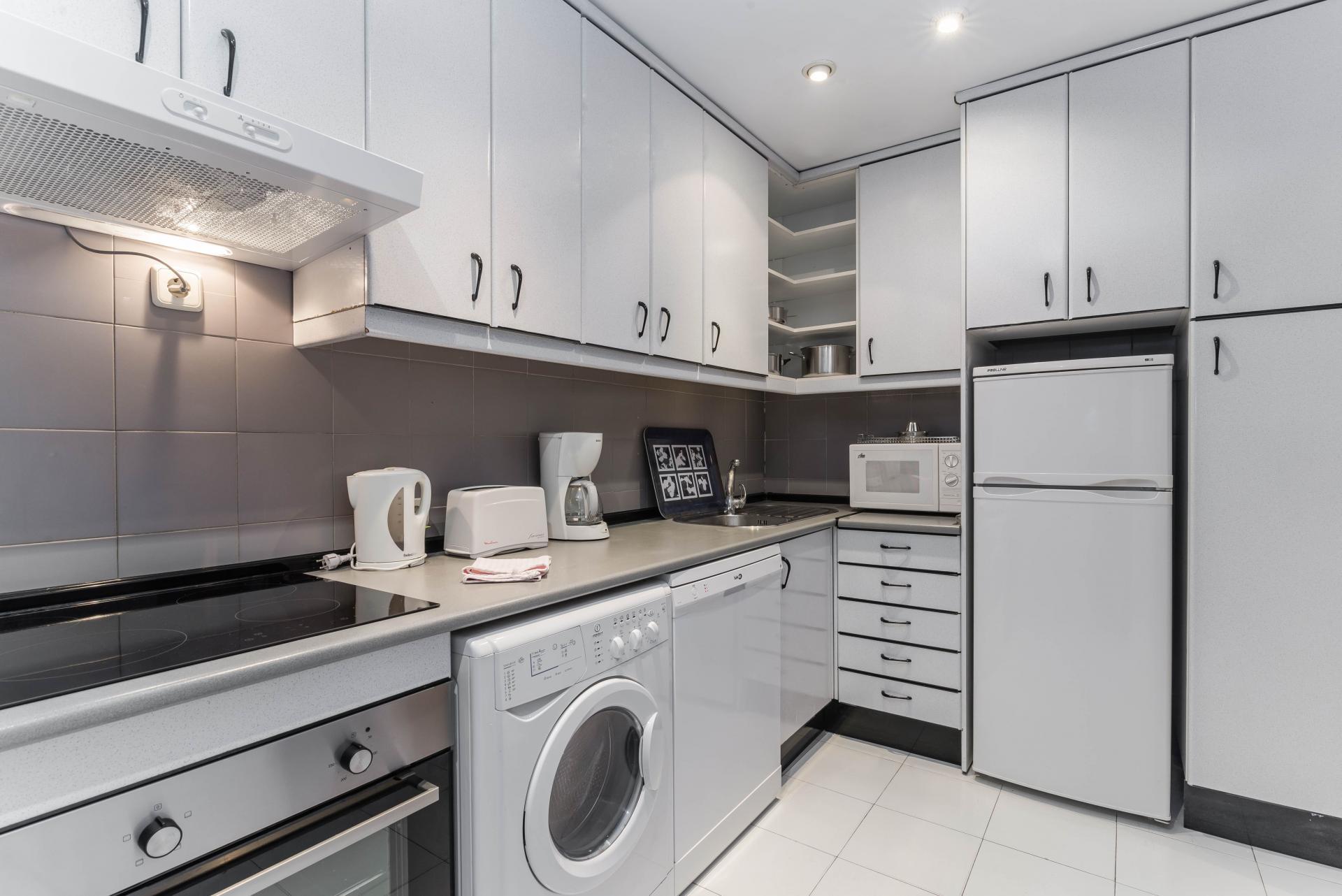 Kitchen at Ayala Apartments, Salamanca, Madrid