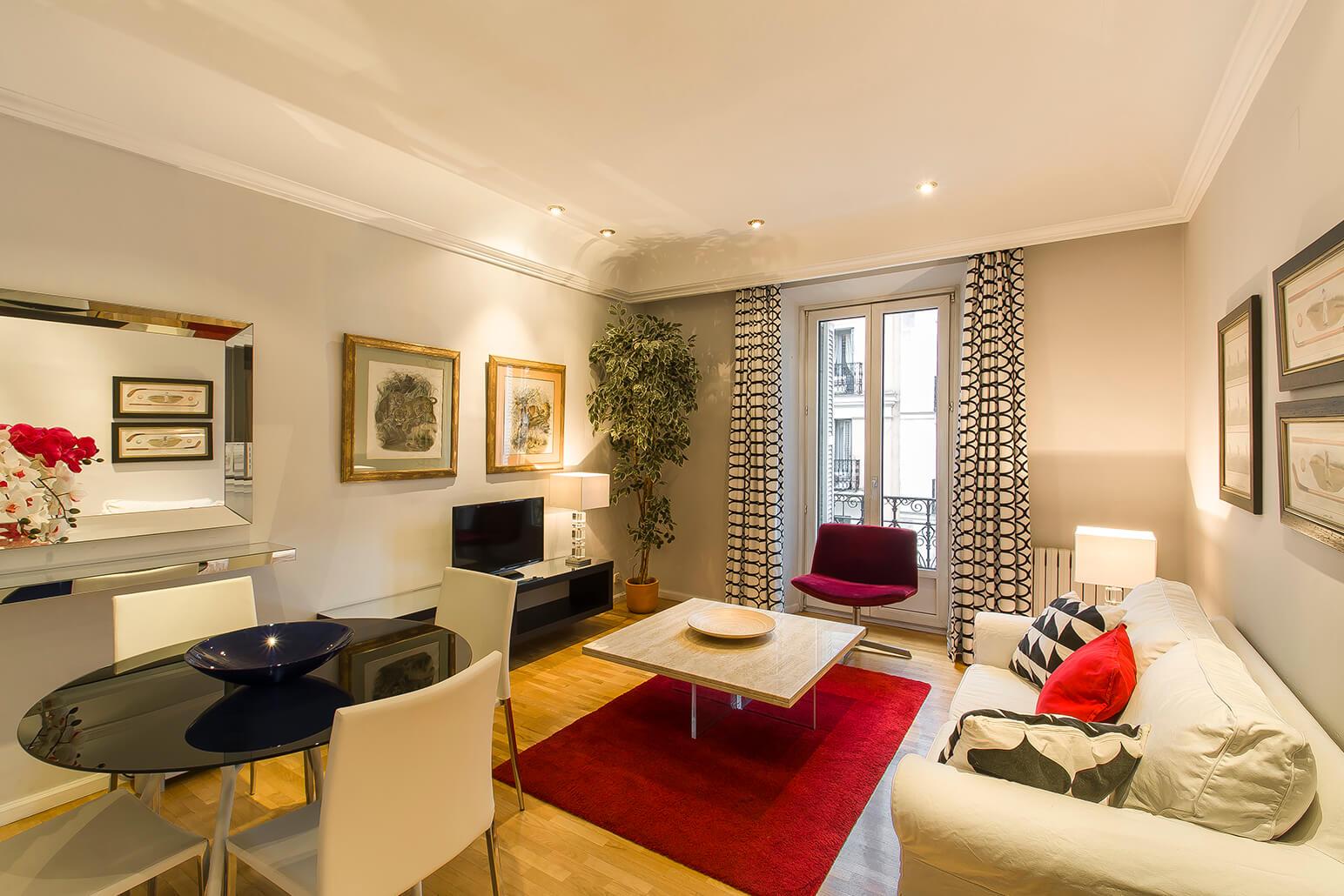 Dining area at Ayala Apartments, Salamanca, Madrid