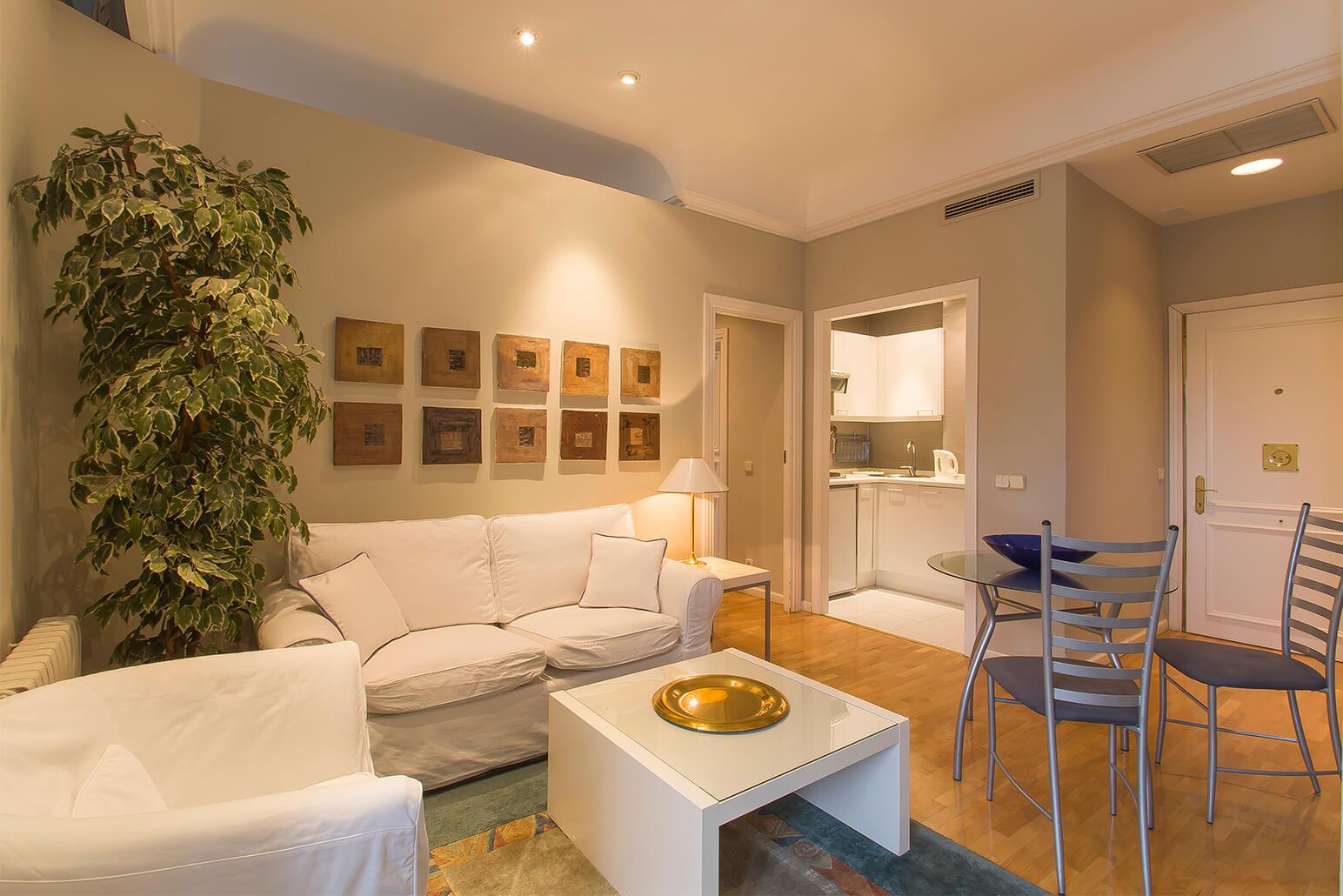 Sofas at Ayala Apartments, Salamanca, Madrid