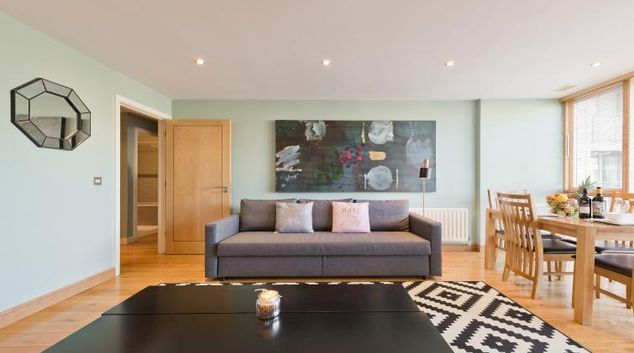 Living area at Barrow Street Serviced Apartments