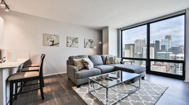 Living room at Arkadia Apartments