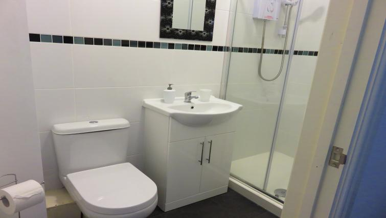 Modern bathroom at The Millstone Apartments