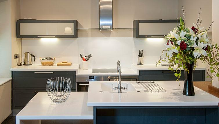 Spacious kitchen at King Road Apartments