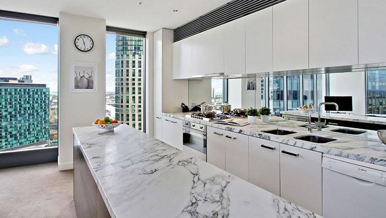 Kitchen at Freshwater Place Apartments