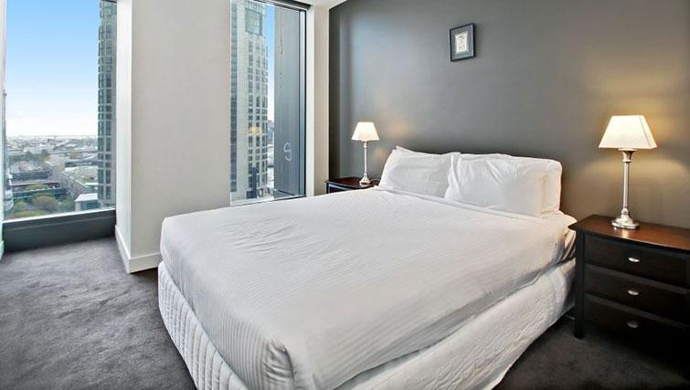 Modern bedroom at Freshwater Place Apartments