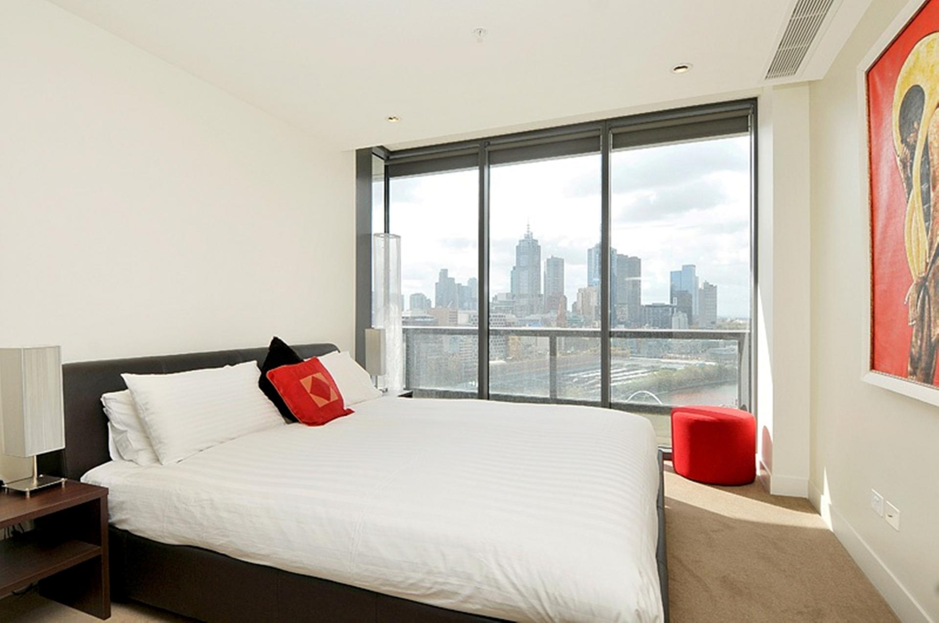 Bedroom view at Freshwater Place Apartments