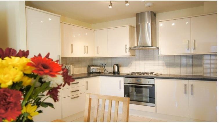Stylish kitchen at Crompton Court Apartments