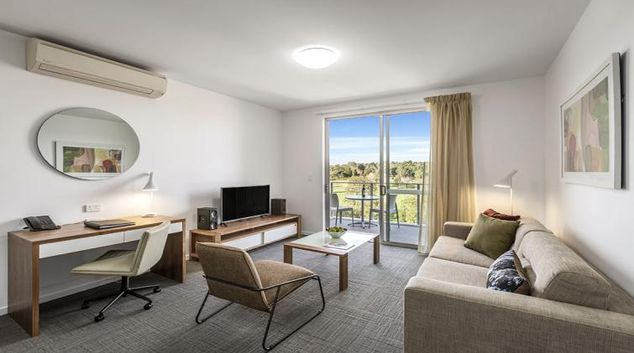 Living room at Quest Toowoomba Apartments