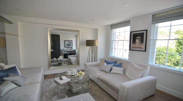 Living room at High Street Apartment
