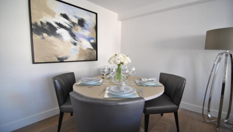Dining table at High Street Apartment