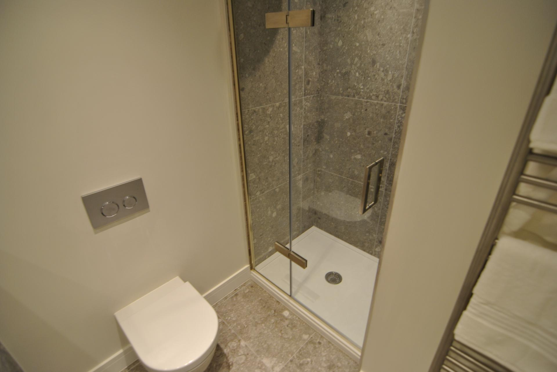 Shower at High Street Apartment