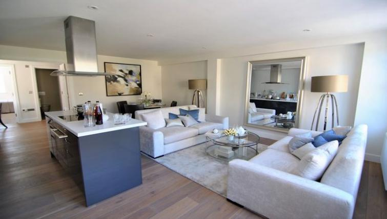 Spacious living room at High Street Apartment