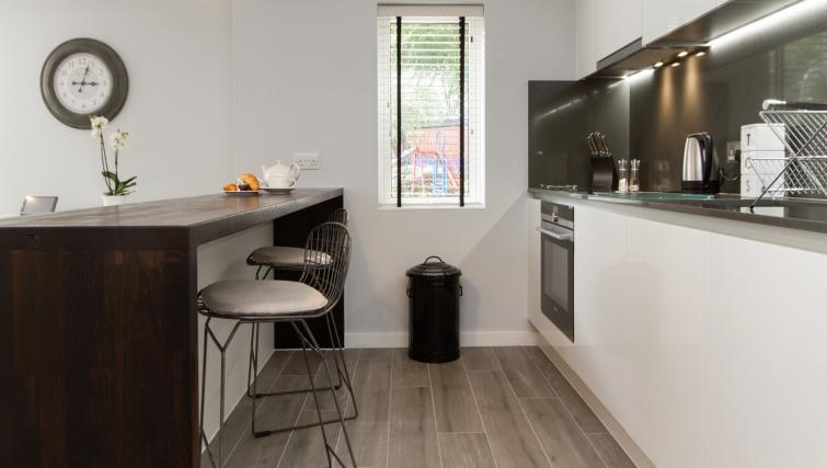 Modern kitchen at Eagle Yard Apartments