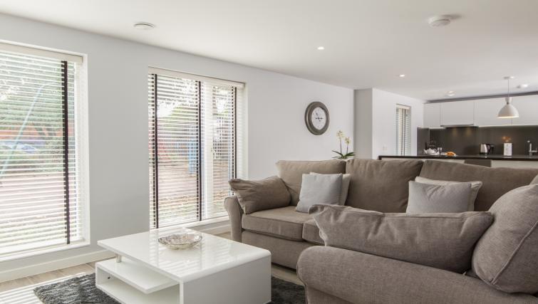 Living room at Eagle Yard Apartments