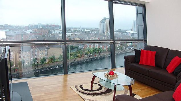 Living area in the Quay Serviced Apartments