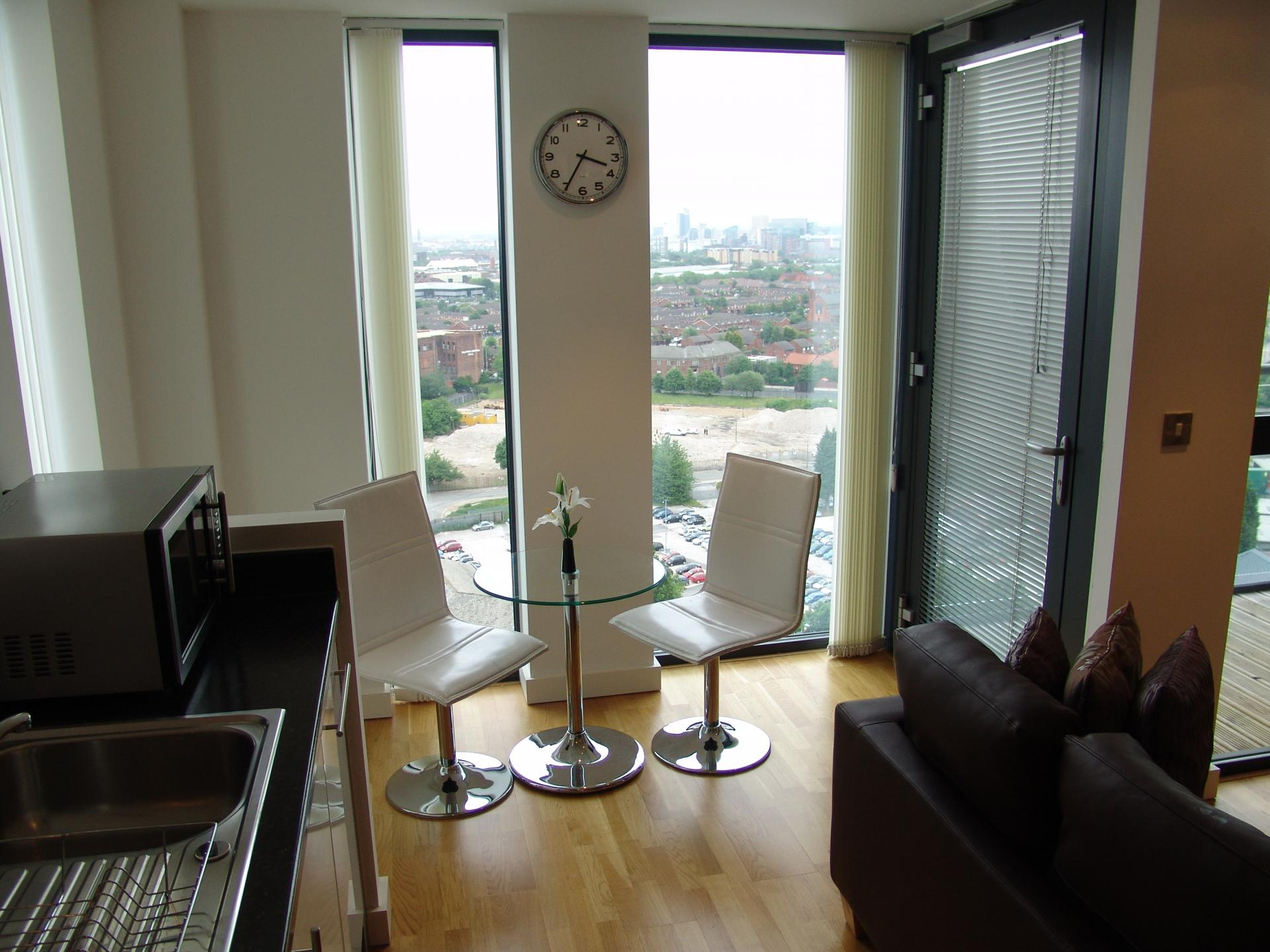 Seating area at Quay Serviced Apartments