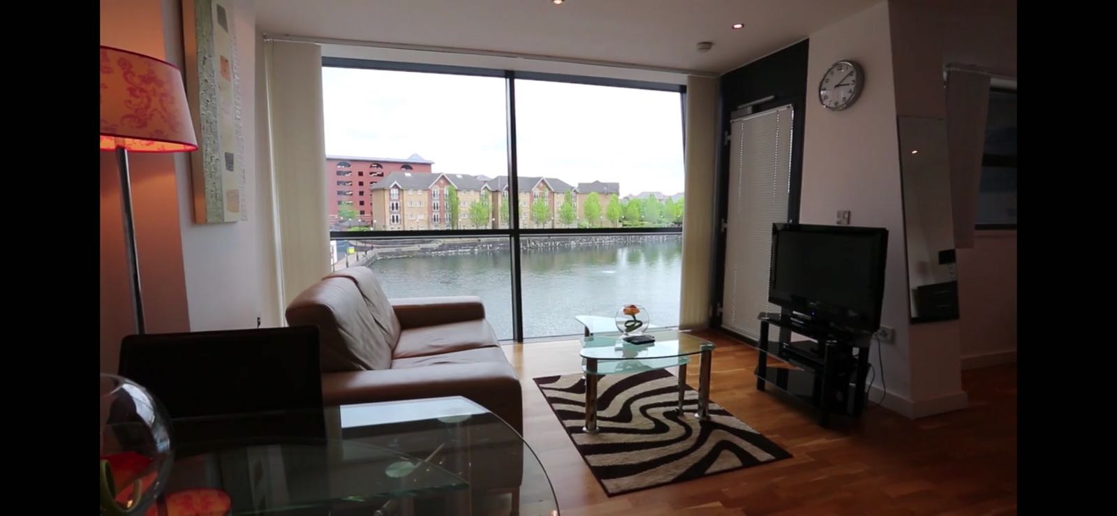 Bright living area at Quay Serviced Apartments