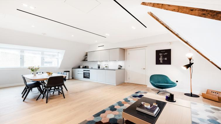 Spacious living area at Floral Street Serviced Apartments
