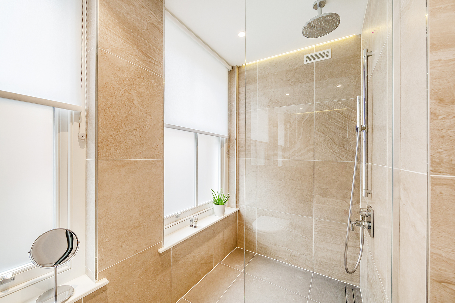 Modern bathroom at Floral Street Serviced Apartments, Covent Garden, London
