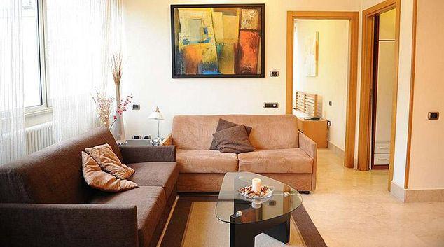 Spacious living area at Lux Appartamenti Rome