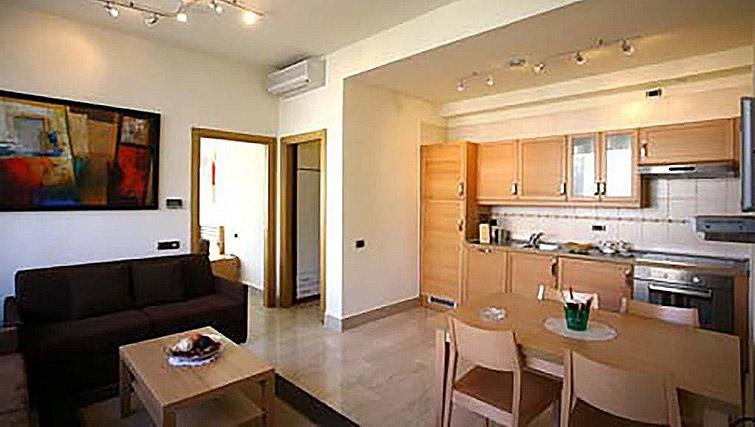 Living area/kitchen at Lux Appartamenti Rome