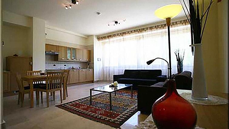 Open-plan living area at Lux Appartamenti Rome