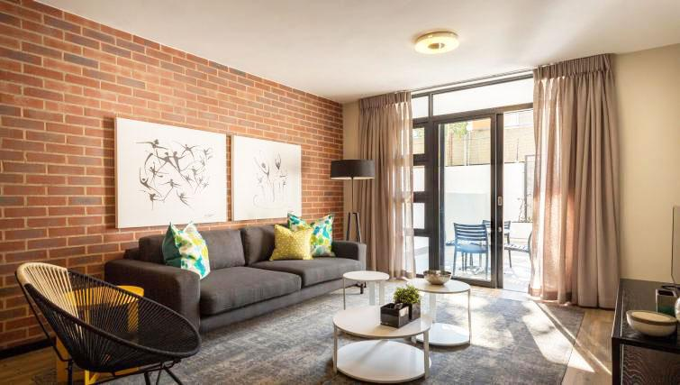 Living room at The Vantage Apartments