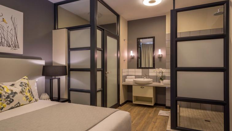 Spacious bedroom at The Vantage Apartments