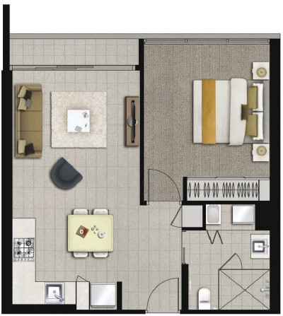 Floor plan 1 at Alcyone Hotel Residences