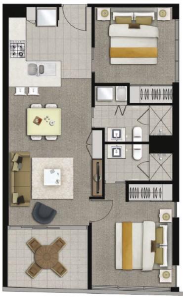 Floor plan 2 at Alcyone Hotel Residences, Hamilton, Brisbane