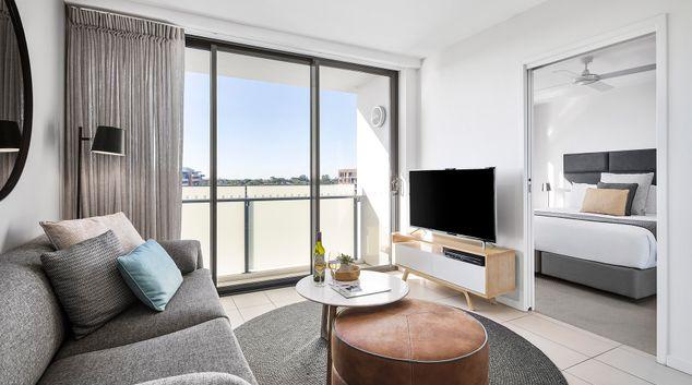 Lounge at Alcyone Hotel Residences, Hamilton, Brisbane