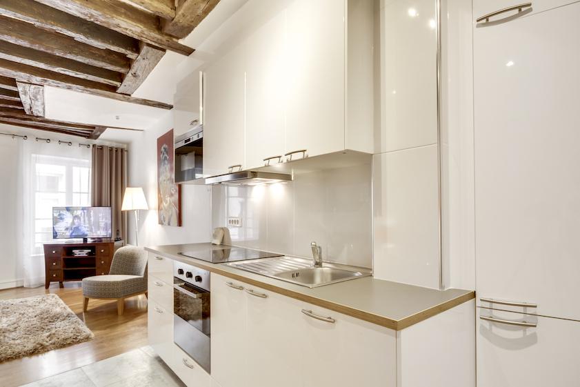 Kitchen at Rue d'Argout Apartments