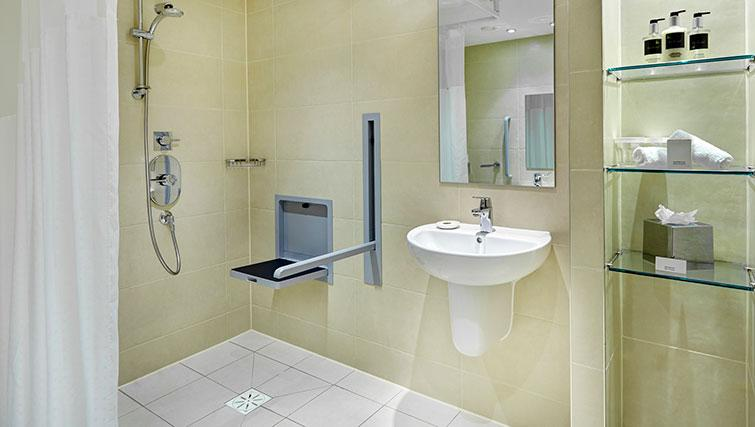 Bathroom with shower at Staybridge Suites Newcastle