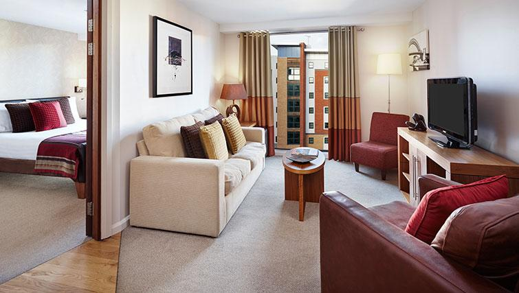 Memorable living area at Staybridge Suites Newcastle
