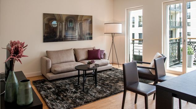 Stylish lounge at InTown Residences