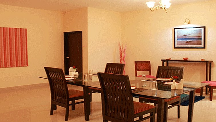 Intimate dining area in Residency Road Apartments