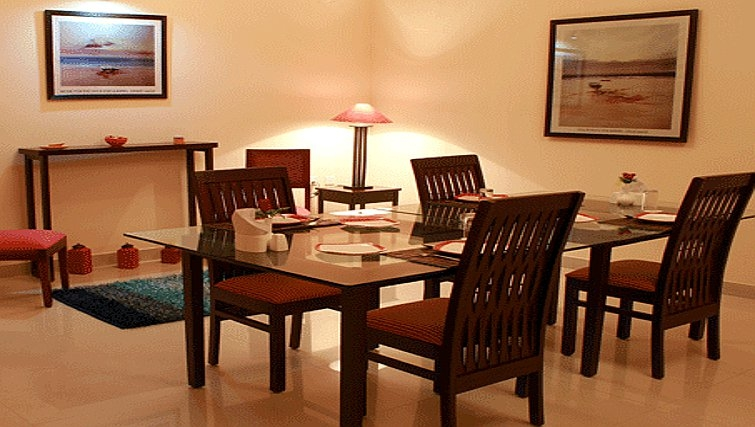 Traditional dining area in Residency Road Apartments