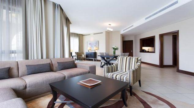 Living area at Shangri-La Residences