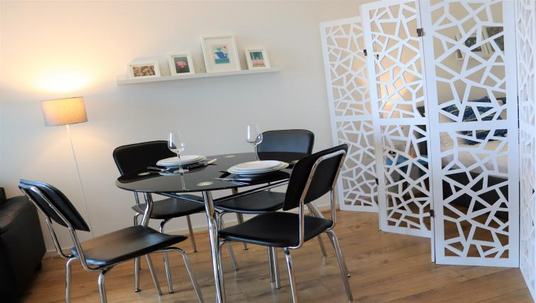 Dining table at Canalside Living Apartments