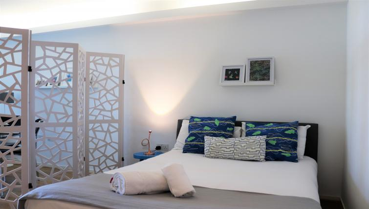 Bright bedroom at Canalside Living Apartments