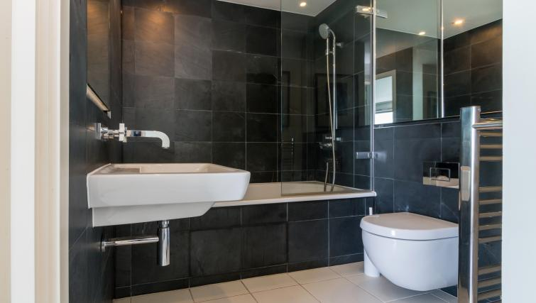 Bathroom at Canalside Living Apartments