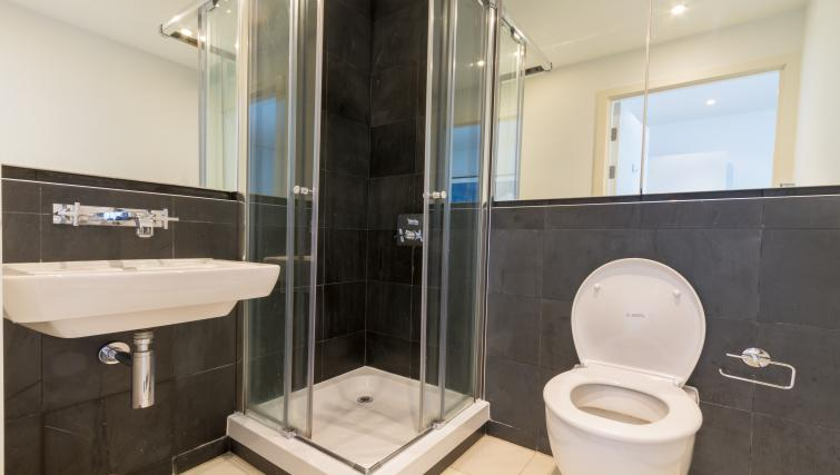 Shower at Canalside Living Apartments