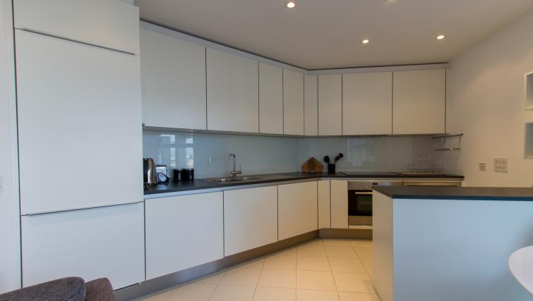Spacious kitchen at Canalside Living Apartments