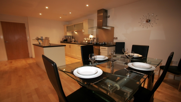 Modern kitchen in Manor Chare Apartments