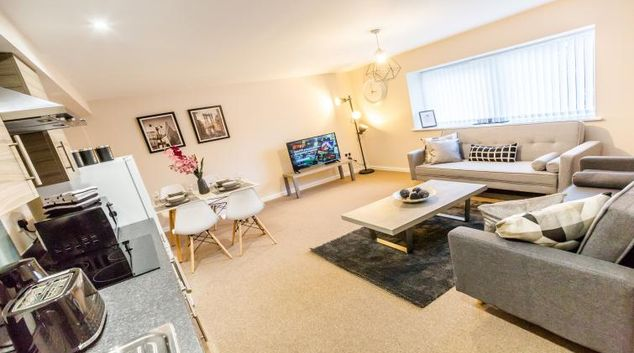Living room at Stockport Apart Suites