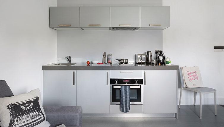 Kitchen at Templeton Place Aparthotel