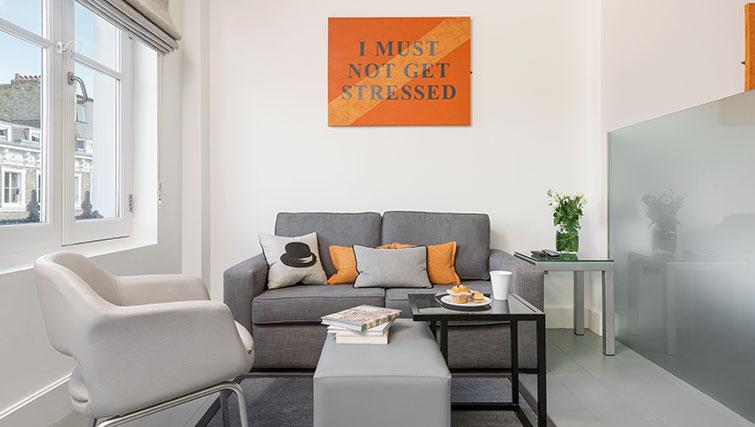 Sofa at Templeton Place Aparthotel