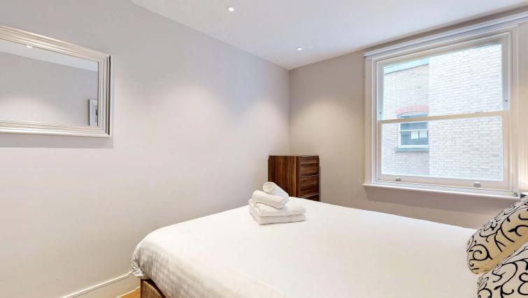 Double bed at Lovat Lane Apartment