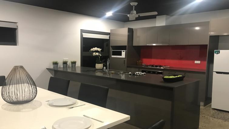 Kitchen at RNR Darwin Serviced Apartments
